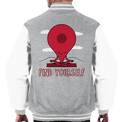 Cloud City 7 Google Maps Pin Fin Yourself Men's Varsity Jacket