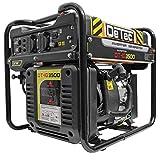 DeTec. Digital-Inverter Producteur D'Électricité Groupe Électrogène 230V - Noir