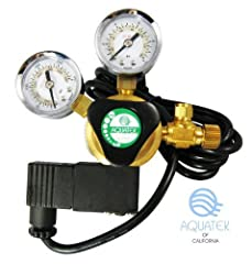 Cool-touch, industrial solenoid design; Brass constructions for long-lasting durability and dependability Precision needle valve for fine tuning release of CO2; Precision output working pressure adjustment knob: 140 PSI Max Includes bubble counter wi...