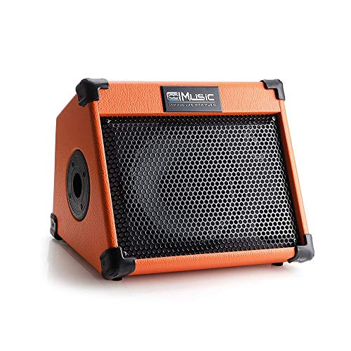 Acoustic Guitar Amplifier, 20 Watt Portable Bluetooth Amp for Guitar Acoustic with Reverb Chorus Effect, 3 Band EQ
