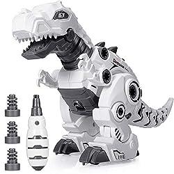 5. BEESTECH Take Apart Walking Robot Dinosaur Toy