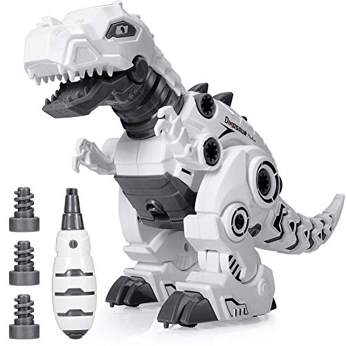 BEESTECH LED Walking Robot Dinosaur Toy