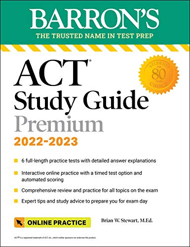 ACT Premium Study Guide: with 6 practice tests (Barron's Test Prep)