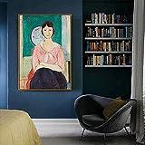 Impresión de pared 70x90cm Exposición de pintura retro abstracta sin marco Museo de pintor español Galería moderna Imagen de arte de pared Decoración del hogar