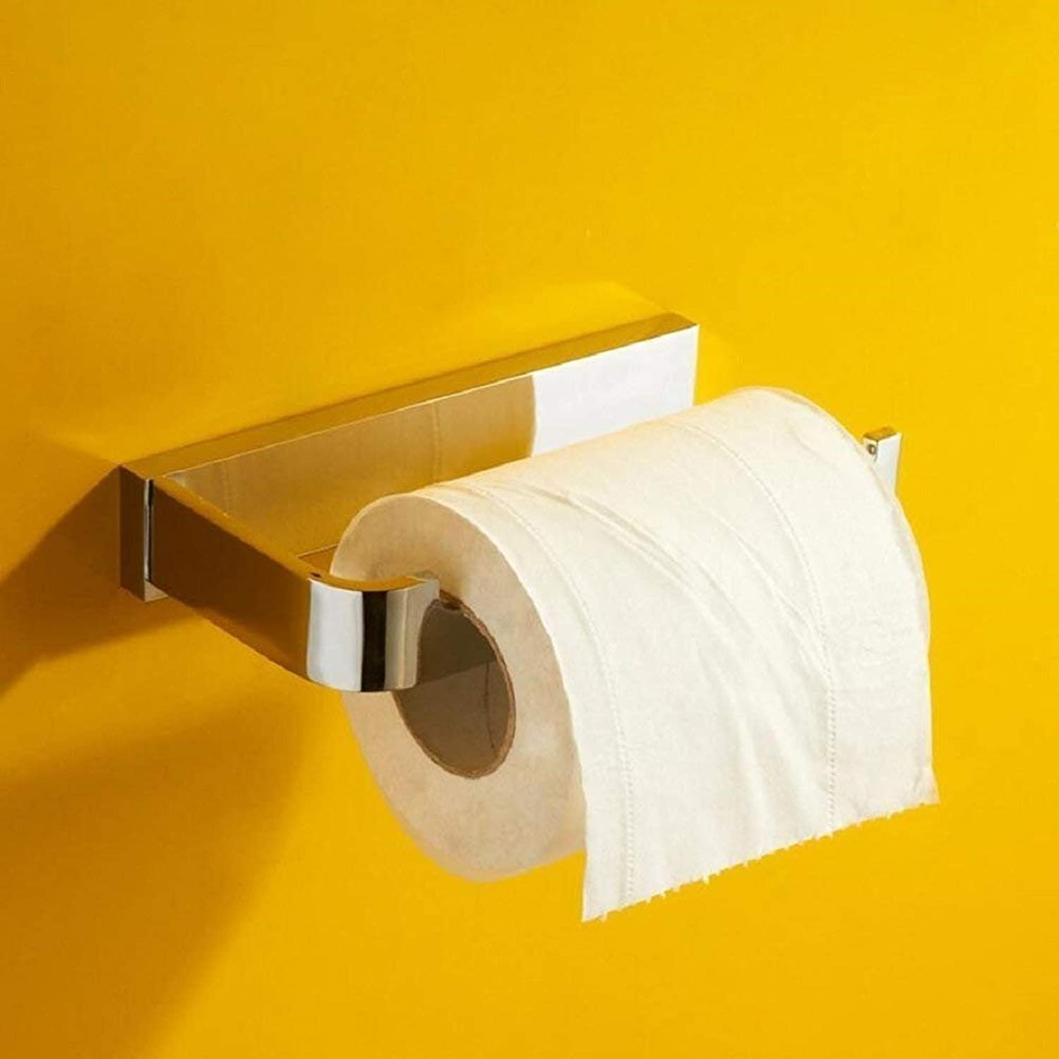 The Copper is',Paper Holder Paper Holder WC Bathroom,Easy Inssizetion and Resistant to Corrosion of Paper Door-Roll,Silver