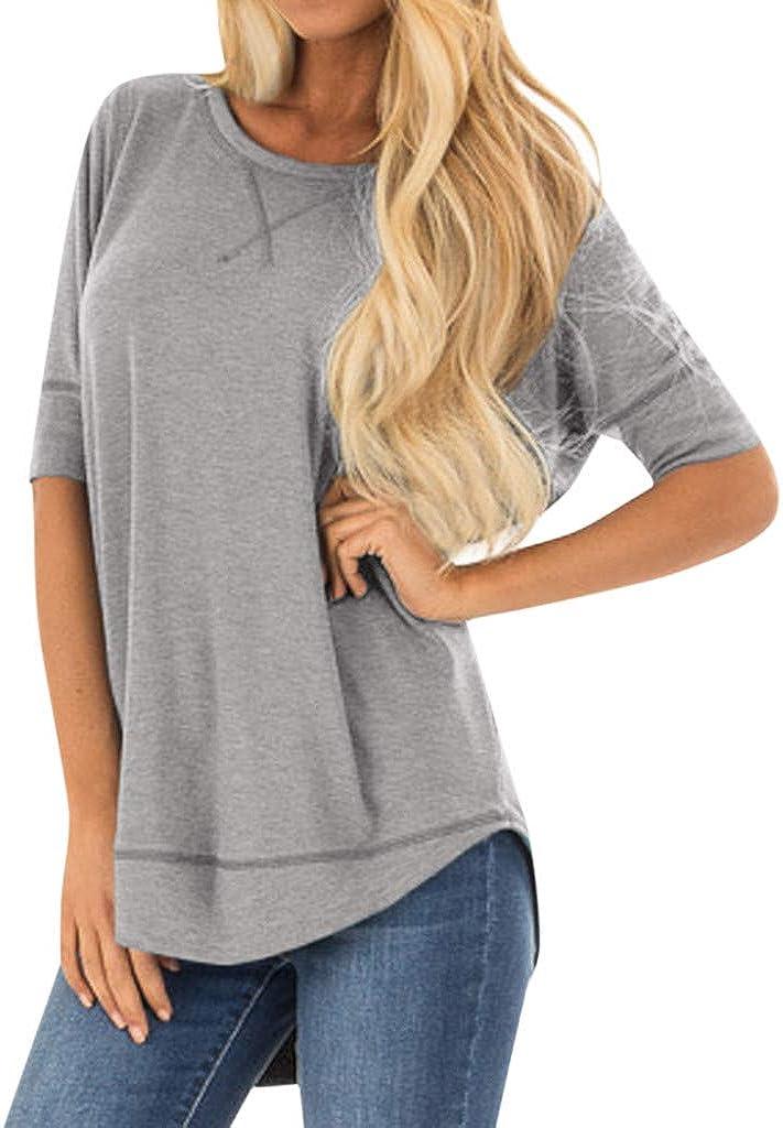 DZQUY Ranking TOP5 Womens Summer Flowy Shirts Virginia Beach Mall Short Casual Sleeve Plus L Size