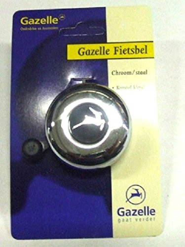 Gazelle org. Glocke Chrom/Stahl Logo