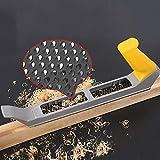 Cepilladora de mano, plano de escofina, plano de alisado de bloques, herramientas de carpintería para carpintería, bricolaje - 250 mm x 41 mm