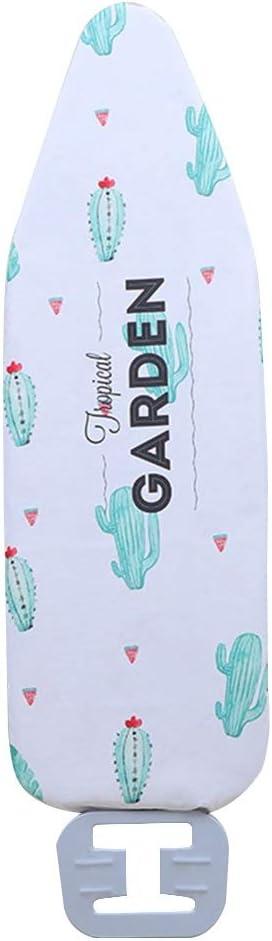 Mrjg Proteger Tabla de Planchar Cubierta Digital Impresa Resistente al Calor Reemplazar Plana Antideslizante Durable Lavable Reutilizable Grande Grueso del hogar (Color : Garden Cactus)