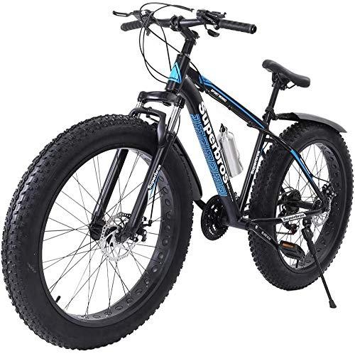 SYCY Fat Tire Bicicleta de montaña para Hombre Ruedas de 26 Pulgadas Ruedas Anchas de 4 Pulgadas de Ancho MTB para Terreno, Arena, Playa o colinas Nevadas