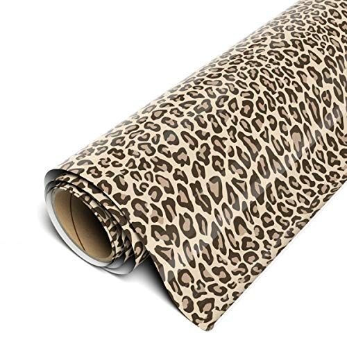Siser EasyPatterns HTV 12 x 12 Sheets (3 Pack) - Iron on Heat Transfer Vinyl (Leopard Tan) TTD High Tack Mask Required - Sold Separately
