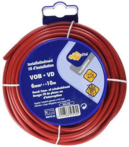 PROFB 790410375 Câble Vob 6 mm 10 m Rouge