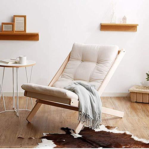 KUYH Silla de sofá plegable, creativa Lazy Lounge Silla, silla de salón individual, adecuada para dormitorio, sala de estar, balcón