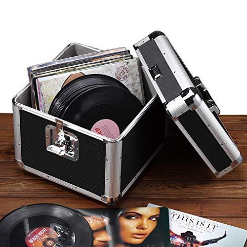 JCNFA Vinylaufzeichnungs-einzelnes Fach-Euro-Art-Fall LP-Schallplattenbox 10/12 Zoll Speicher,...
