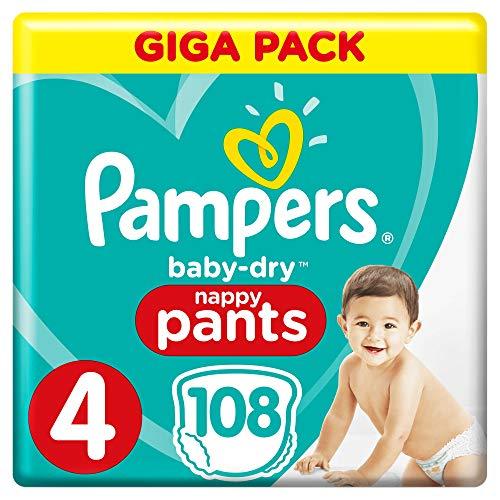 Pampers Baby-Dry Pants Größe4, 108Windeln