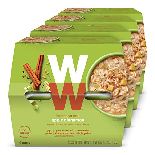 WW Apple Cinnamon Instant Oatmeal  3 SmartPoints  4 Boxes 16 Count Total  Weight Watchers Reimagined