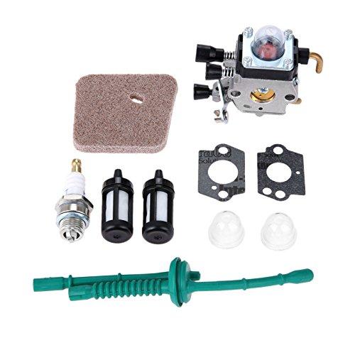 Hicello Fuel Line Carburador Kit para STIHL FS38 FS45 FS55 Cuerda Trimmer Weed Eater Parte