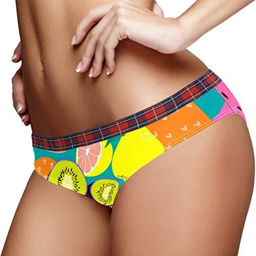 TIZORAX Tropische Fruit Ananas Watermeloen Kiwi Vrouwen Ondergoed Bikini Mode Dames Korte Broek