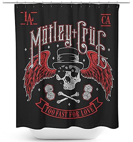 Mötley Crüe Biker Skull Unisex Duschvorhang Standard 100% Polyester Band-Merch, Bands