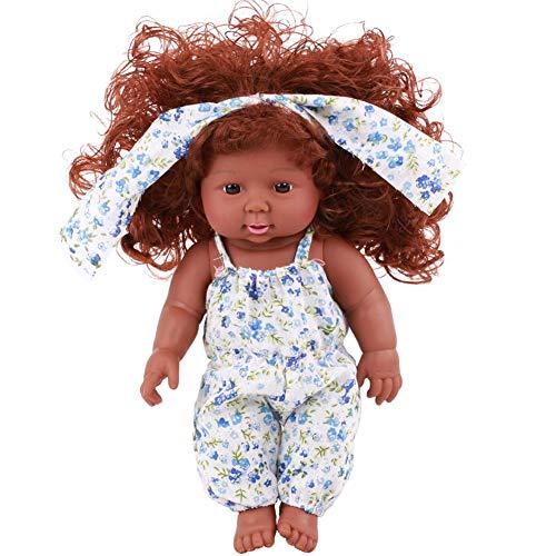 Fervortop - Muñeca de bebé nacido de 12 pulgadas, realista y realista, hecha a mano, para bebés y niños, -, B