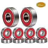 Spruce Skateboard Bearing, ABEC-9/ABEC-11 High Speed Wearproof Skating Steel Wheel Roller, Precision Skate...