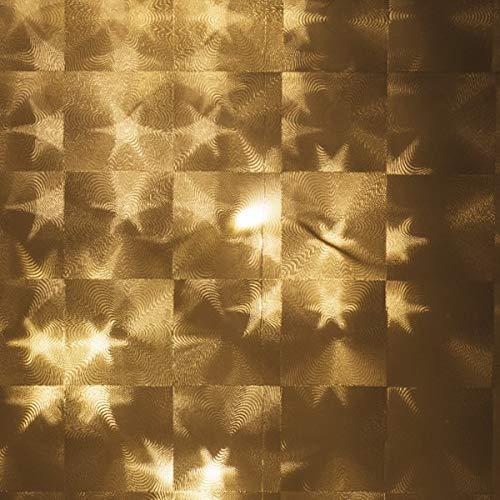 10 Lichteffekt-Folien | Zum Basteln & Dekorieren mit Lichterketten, LED-Lichtern | DIY Laternen & Windlichter | Basteln für Advent & Weihnachten (Stern Kacheln, DIN A5)