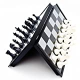 The chess set Made of durable HIPS plastic with Fine texture, gives you smooth hand-feel while lightweight and portable; well-crafted chess pieces make it much more deluxe. The chess board every individual pieces have a light magnetic attraction to t...