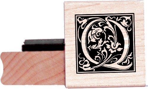 Tampon en caoutchouc alphabet - Lettre Q à la William Morris
