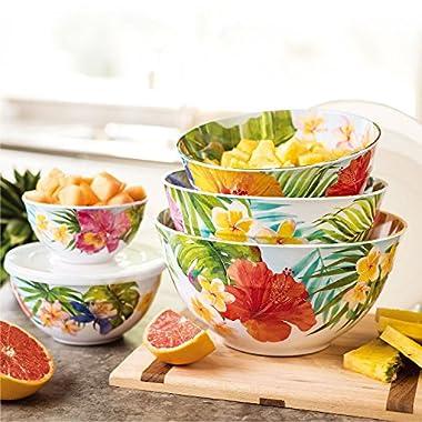 Melamine 10-Piece Mixing Bowl Set - Tropical