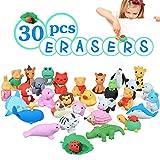 Acekid Radiergummis für Kinder, 3D Tier Radiergummis Set, niedliche Mini Puzzle Radiergummi Spielzeug für Neuheit Party und Schulbedarf -