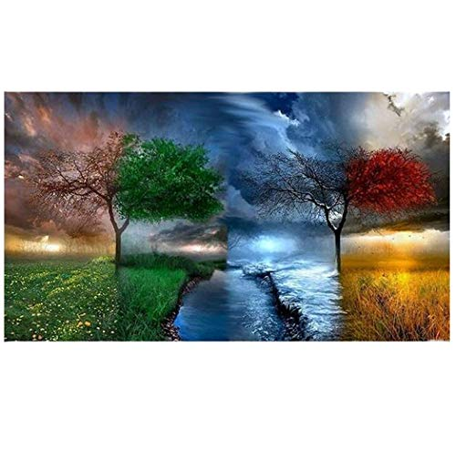 Evangelia.YM Four Weather Landscape Stitching DIY 5D Diamond Painting Kits for Adults - Full Rhinestone Crystal Embroidery Cross Stitch Art Crafts (Multicolor)