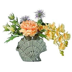 NYKK Decoration Artificial Peony Flower Phalaenopsis Mix and Match Flower Arrangement Art Fake Flower Bonsai Silk Flower Simulation Flower Table Centrepieces