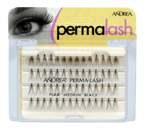 Andrea PermaLash Individuals Medium Lashes, Black 56 ea (Pack of 4)