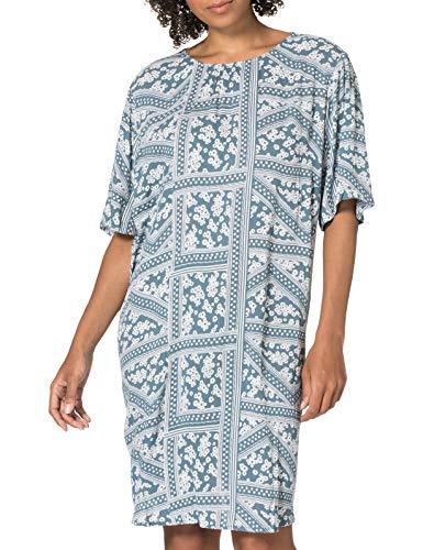 ONLY Carmakoma CARSUPER Life SS Tunic Dress Vestito, Blue Mirage/AOP: Grafica e Fiori, 48 Donna