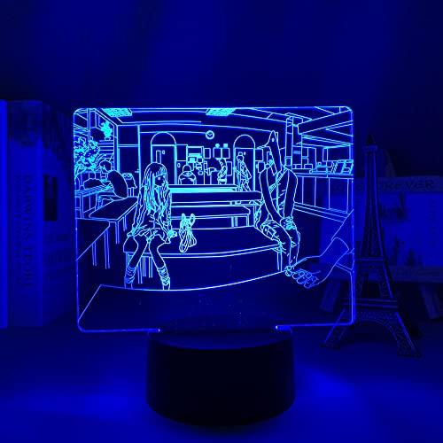 DAJIE Anime - Luz LED de buena noche punpun para dormitorio, decoración de la luz nocturna, regalo de cumpleaños, habitación, decoración de mesa, lámpara 3D, manga, buena noche punpun