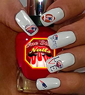 Patriots Waterslide Nail Decals by One Stop Nails V2.