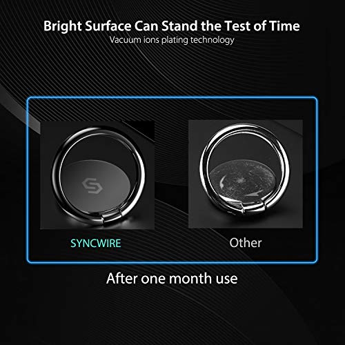 Syncwireスマホリング携帯リング薄型360°回転落下防止指輪型スタンド機能ホールドリングフィンガーリングiPhone/Android各種他対応