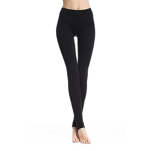 df6546bd733c8d Belugue Women's High Waist Soft Seamless Full Length Stirrup Leggings