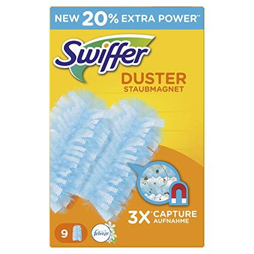 Swiffer Staubmagnet Tücher Nachfüllpackung (mit Febreze-Duft), 6er Pack (6 x 9 Stück)
