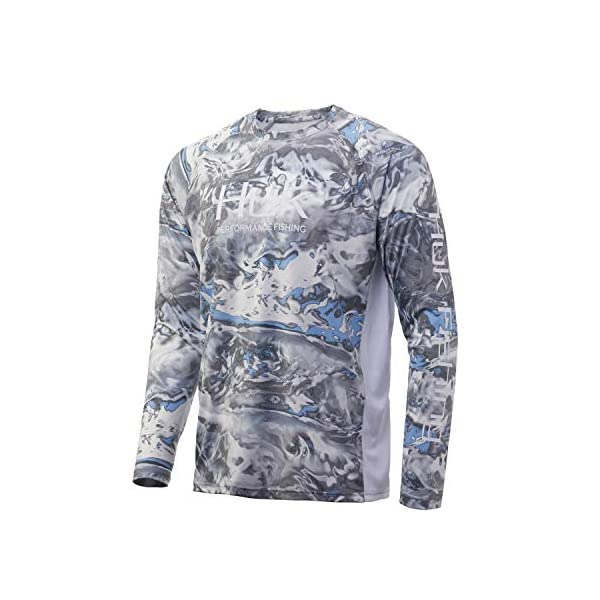 Huk Men's Mossy Oak Pursuit Long Sleeve Shirt | Camo Long Sleeve Performance Fishing Shirt With +30 UPF Sun Protection, Mossy Oak Hydro Standards, 2X-Large