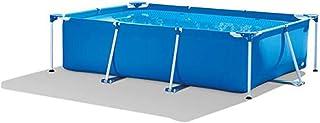 YHSGD Piscinas con armazón, Piscina Familiar con Centro de natación, Piscina con armazón Rectangular, Piscina con Soporte para Piscina Familiar, 220x150x60cm