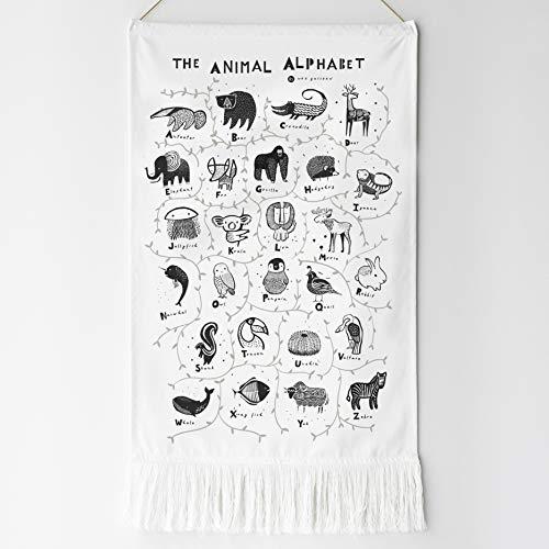 Wee Gallery, Animal Alphabet Printed Tapestry