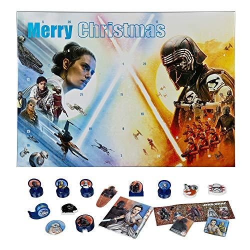 Adventskalender – Star Wars – schrijfwaren – knutselgerei – adventskalender – hiermee wordt de tijd voor kerst heerlijk spannend achter de 24 deurtjes vind je leuke dingen
