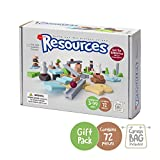 Taksa Toys Resources Gift Pack 72 Pcs. – Alternative Educational Building Blocks Set / Creative Open-Ended Construction Toys for Kids / Nature Inspired Montessori Balancing and Stacking Blocks.