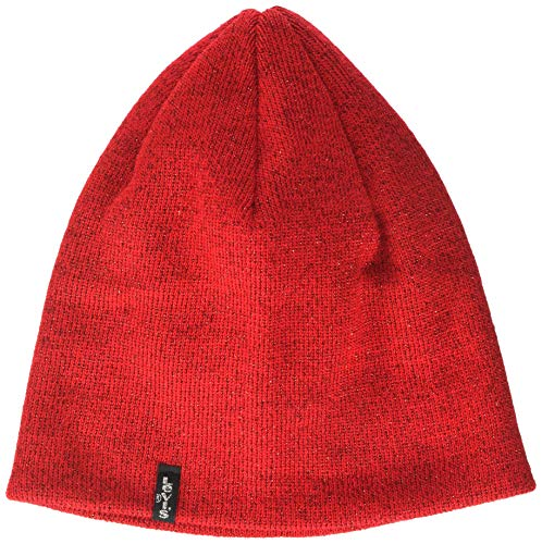 Levi's Damen Lurex Otis Beanie Strickmütze, Rot (B Red 88), Large