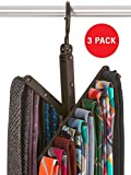 StorageMaid - 3-Pack - Tie & Belt Rack – Necktie Accessories Organizer – 20 Non-Slip Hanger Hooks Each – Rotates 360 Degrees – Storage Solution for Neckties and Belts