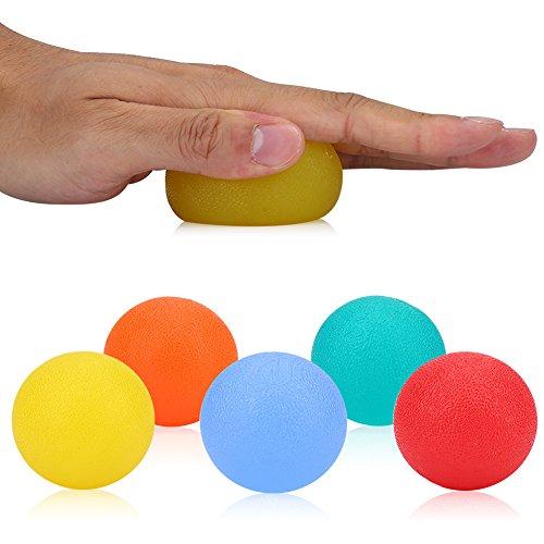 1 Stück Eiförmige Griffbälle Handtrainer Stress Balls Fingertrainer Gymnastikball Silikon Hand Therapie Stress Training Übungsbälle Finger Übung Stress Relief Squeeze Eier für Griff, Finger