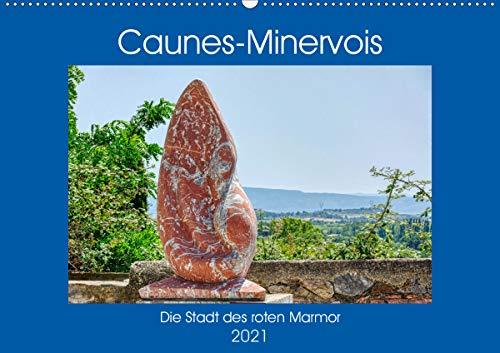 Caunes-Minervois - Die Stadt des roten Marmor (Wandkalender 2021 DIN A2 quer)
