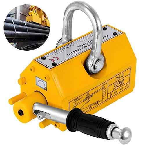 VEVOR 300KG Sollevatore magnetico 660LBS Magnete di Sollevamento in Metallo con Chiave Esagonale