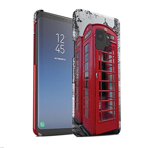 Stuff4 Phone Case/Cover/Skin/SG-3DSWM / London Engeland Collection Samsung Galaxy S9/G960 Red Phone Box